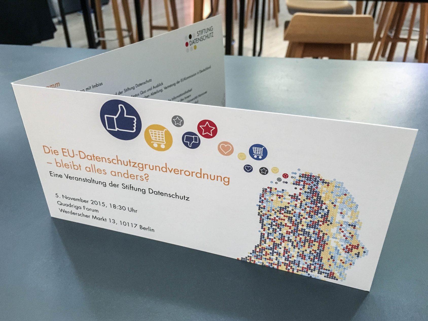 Datenschutzrecht, EU, Datenschutzgrundverordnung, Stiftung Datenschutz, Berlin