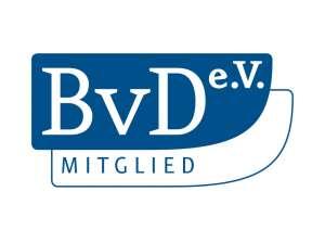 Logo - Mitglied im BvD - Berufsverband der Datenschutzbeauftragten Deutschlands (BvD) e.V.